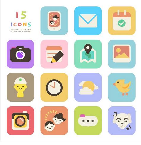 Animal Crossing Icons Set
