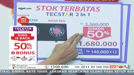 Frekuensi siaran Lejel TV Home Shopping di satelit Palapa D Terbaru