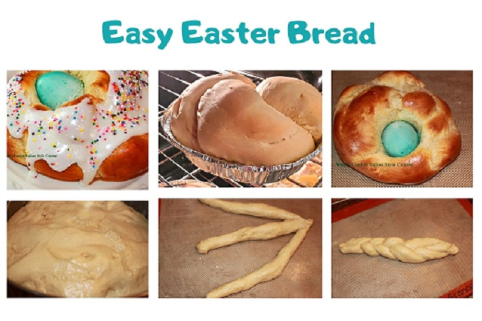 this is a collage on how to make Italian Easter Bread