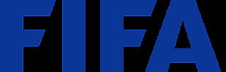 الاتحاد الدولي لكرة القدم FIFA شعار لون أزرق وخلفية بيضاء