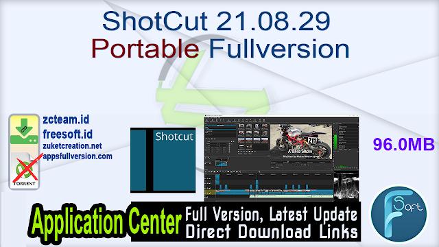 ShotCut 21.08.29 Portable Fullversion