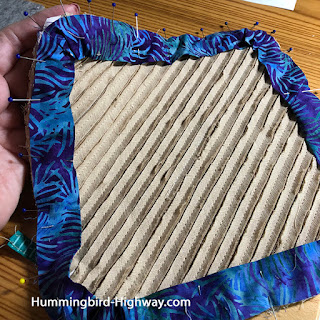 wash cloth assembly step