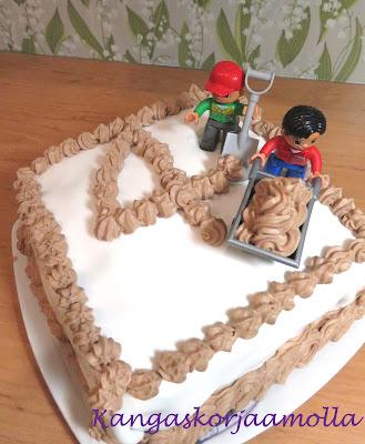 kakun koristelua lego-teemalla