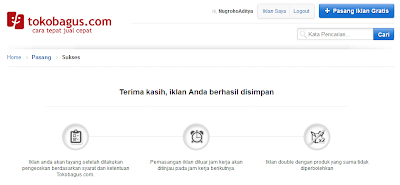 Pasang Iklan dan Jual Barang Di Tokobagus.com