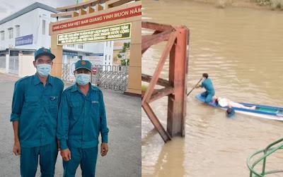 Hai dân quân huyện Chợ Mới cứu người gặp nạn trên sông