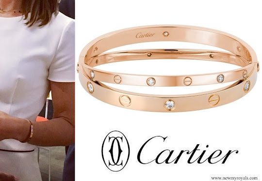 Crown Princess Mary in Cartier Love Diamond Bracelet