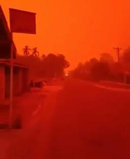 Fenomena Alam Langit Merah Di Muaro Jambi 21 September 2019