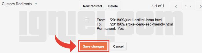 Cara Mengalihkan URL Artikel Lama ke Artikel Baru Permanen