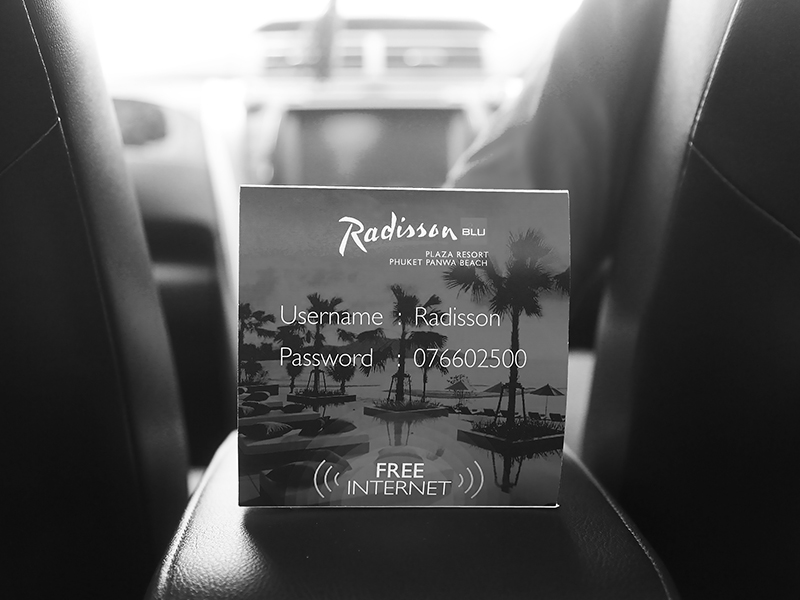 Radisson Blu Plaza Phuket hotel private car pick up with free wifi