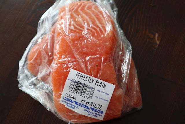 salmon from the local meat market