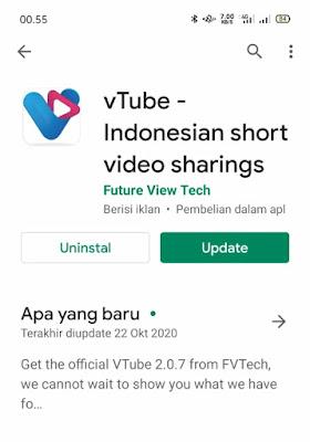 Cara Download dan Instal Update vTube 2.0.7 Terbaru