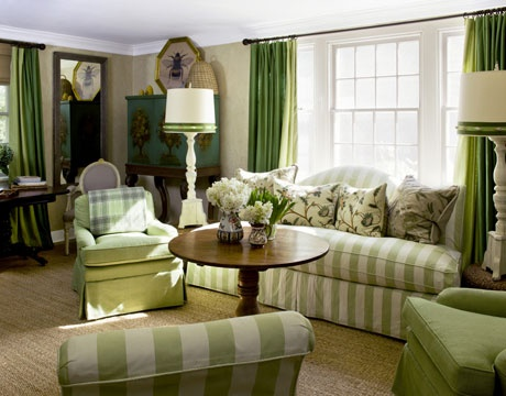 Salas de color Verde  Salas de Estar  Living Room  Cmo