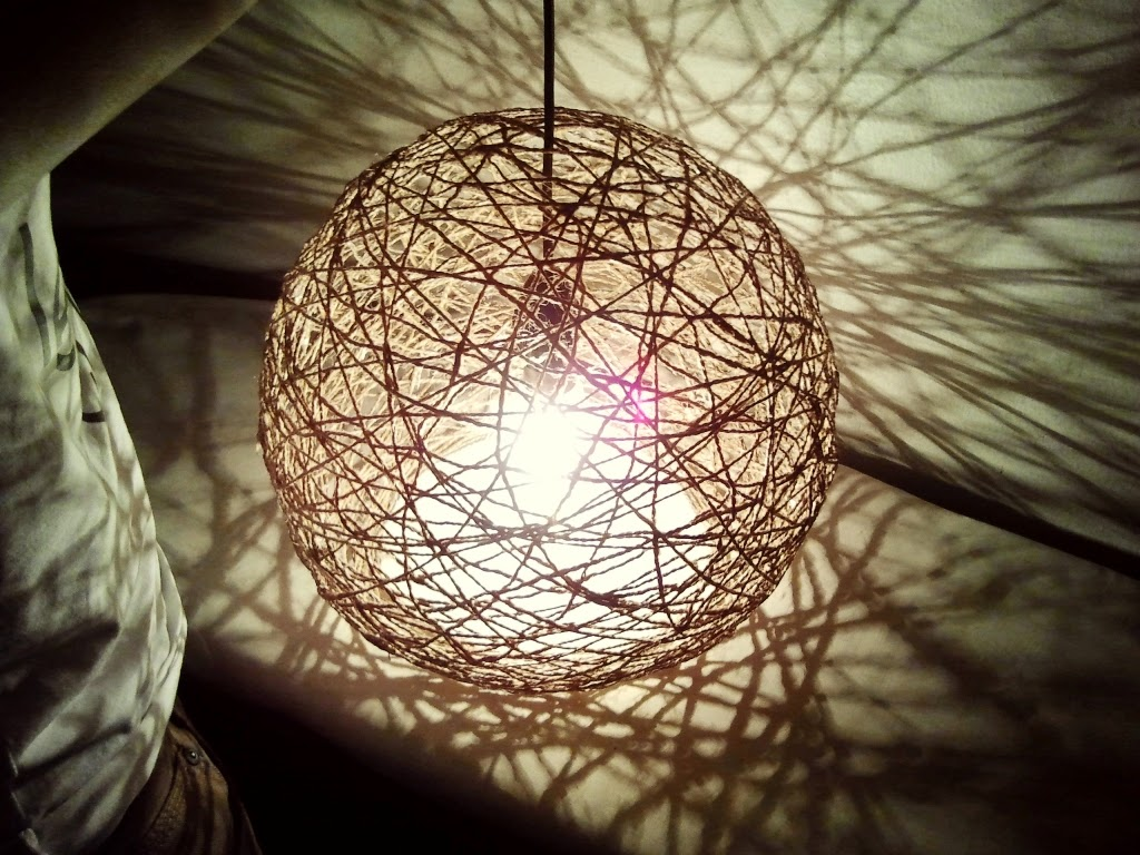 Life S Simple Pleasures Diy Hemp String Hanging Lamp