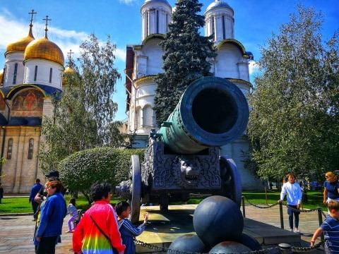 największa armata świata, armata Kreml, moskiewski Kreml, atrakcje Rosji
