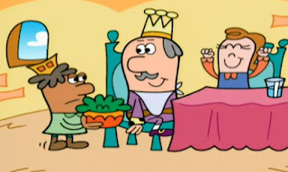 Eye-rene says it's good for eyes to eat dark green leafy vegetables. The King summoned the royal dark green leafy vegetable person and he ate royal spinach. Elmo's World Eyes TV Cartoon, The Eyes Channel