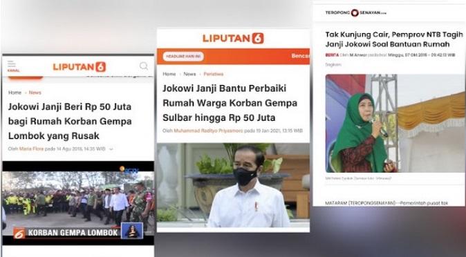 Jokowi Janji Beri Rp50 Juta pada Korban Gempa Sulbar, Bagaimana dengan Korban Lombok ?