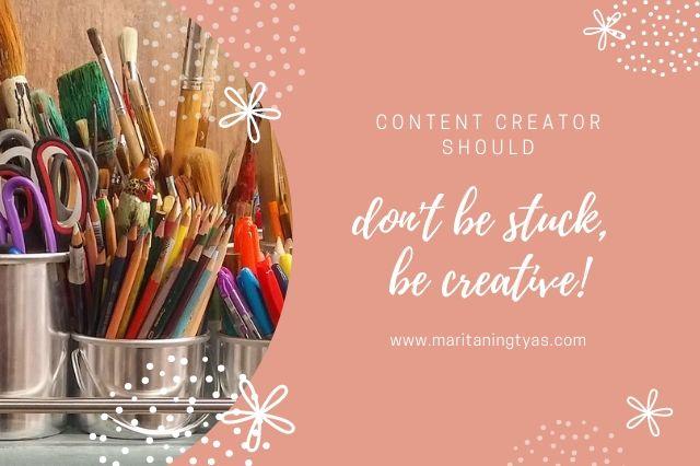 ubah proses kreatif saat menjadi content creator