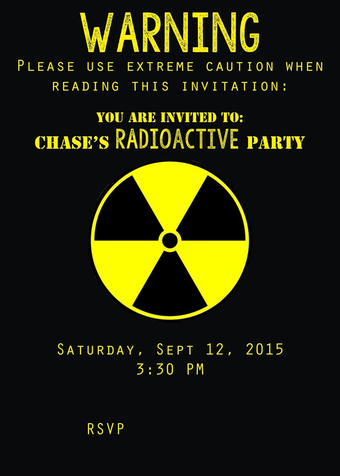 Midwestern Mama Chases Th Birthday Radioactive - How to make a birthday invitation in photoshop elements