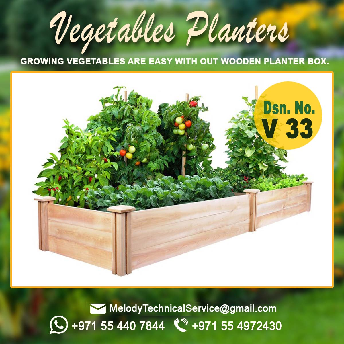 Wooden Planters Manufacturer In uae