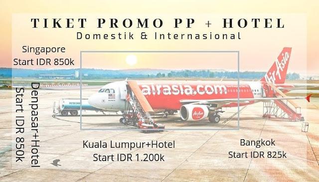 UPDATE HARGA 18 NOVEMBER 2018! TIKET PROMO AIRASIA + HOTEL 2018/2019 MULAI IDR 850K | Tiket AirAsia ke Bali, Jakarta, Singapore, Kuala Lumpur Termurah