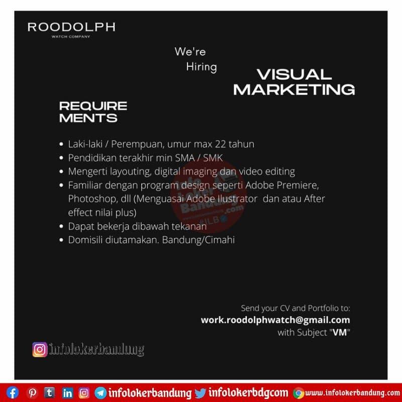 Lowongan Kerja Roodolph Watch Bandung Juni 2021