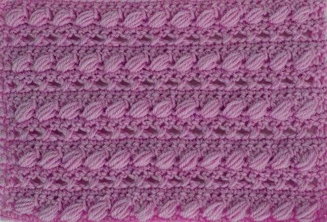 5 -Crochet Imagen Puntada combinada con punto puff especial para bufandas y canesús por Majovel Crochet