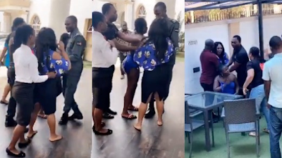Watch Video: Again Angry Wife Confronts Her Hubby And His Side Chic At A Hotel
