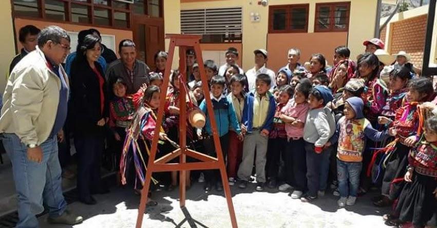 Gobierno Regional inaugura colegio en el caserío Paygacerca en Inkawasi - Lambayeque