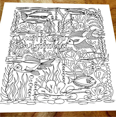 Keep Swimming Coloring page