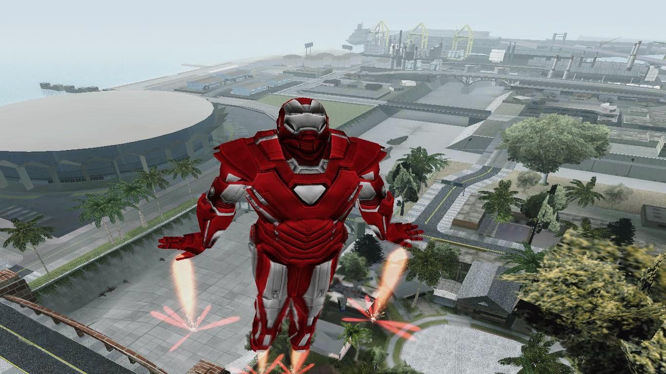 Iron-Man Silver Centurion GTA San Andreas ~ Made in Blogspot