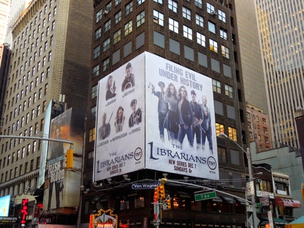 The Librarians series premiere billboard
