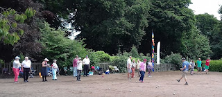The Woodstock Petanque Club at Alexandra Park in Edgeley, Stockport
