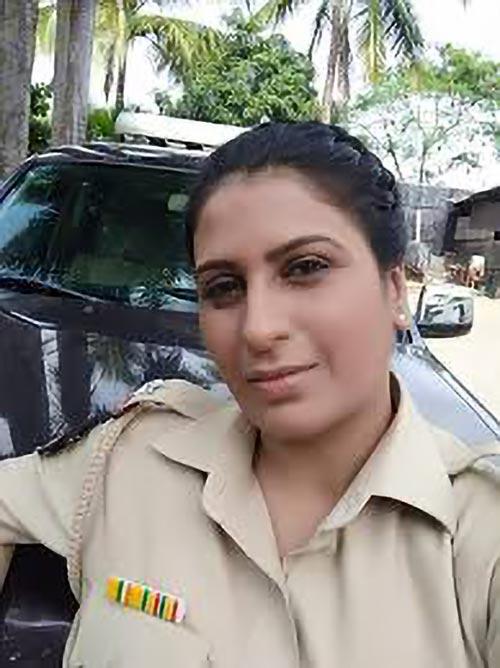 Actress Reshma Kotian as inspector in Crime Patrol