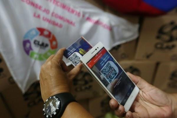 Pago y entrega de los alimentos clap mediante el sistema del Carnet de la Patria