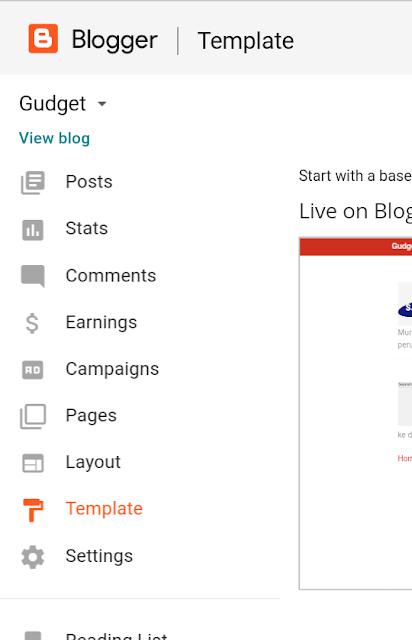 Tutorial: Merubah Template Dasar Tampilan Desain Blogger