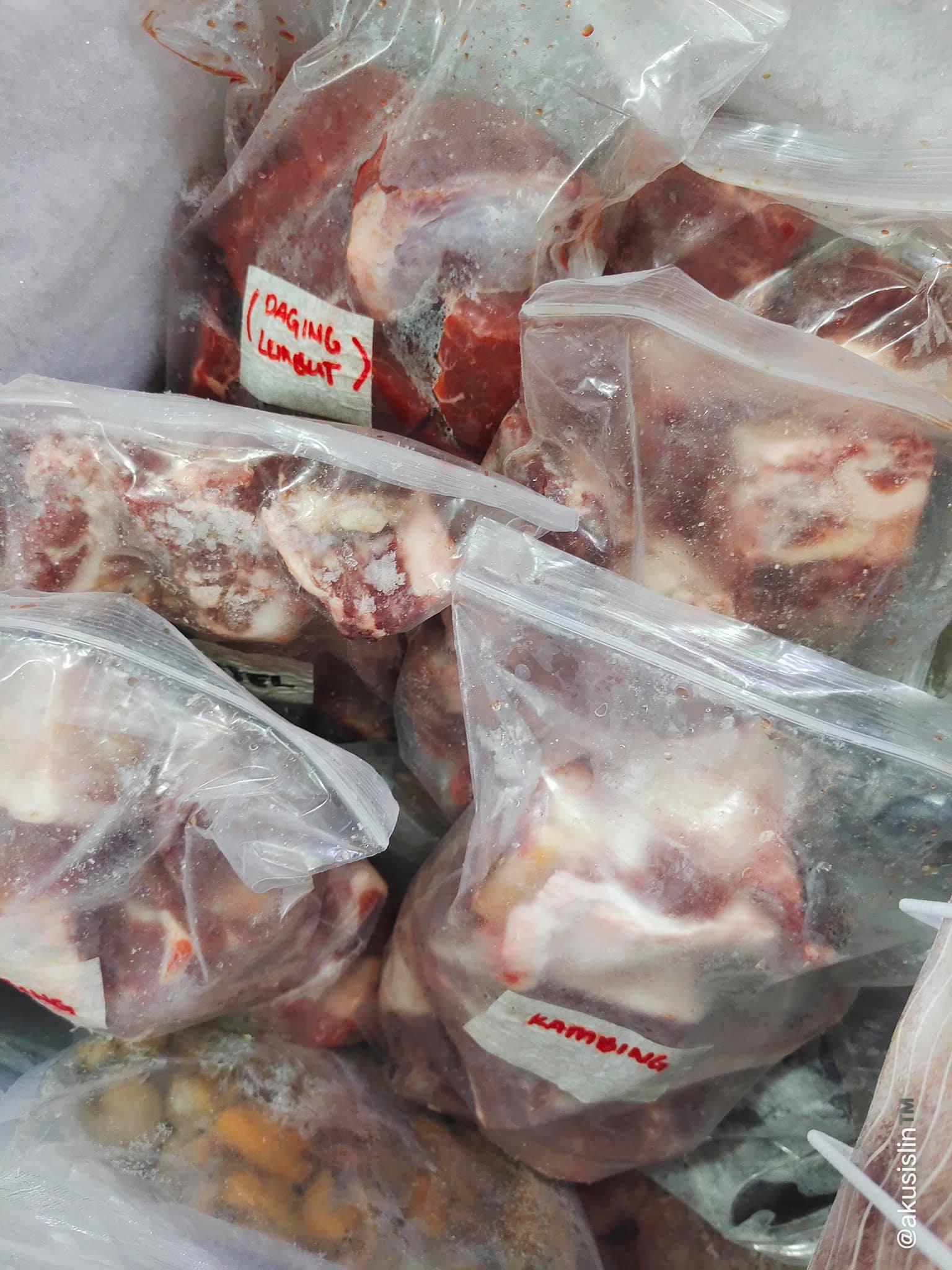 Stok Daging Untuk menu Raya Haji Sudah Siap Sedia
