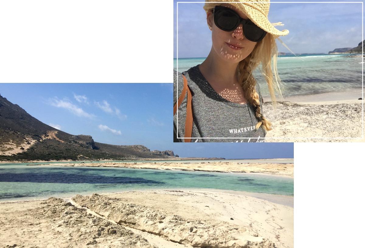 Schönste Strände Kretas - Reisebericht: Lagune Bucht Balos (inkl. Anfahrt Restaurant Tipps und Wichtigem), Strand Falassarna Westküste Kreta West coast Crete Greece Best Beaches Europe Pink Beach Rosa Strand