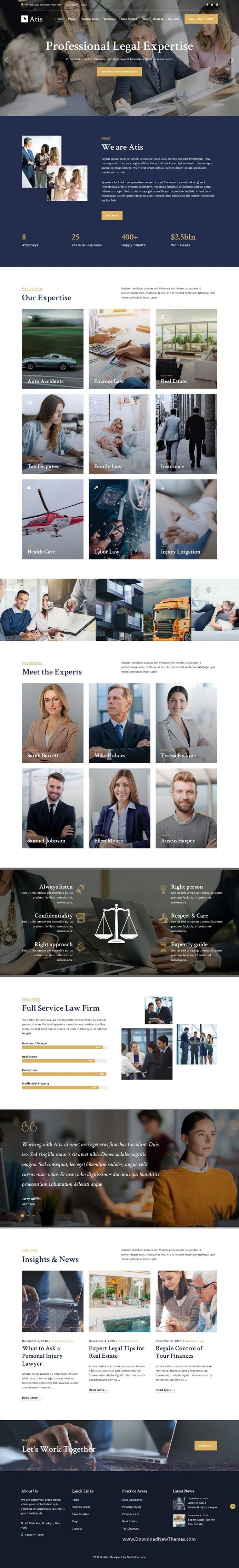 Lawyers Advisors Business Website Theme