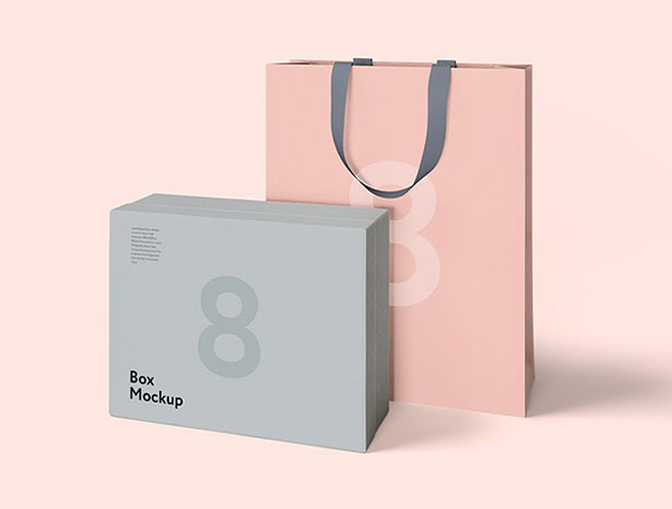 Gratis Mockup Packaging/Kemasan PSD 2018 - Luxury Packaging Box & Bag PSD Mockups