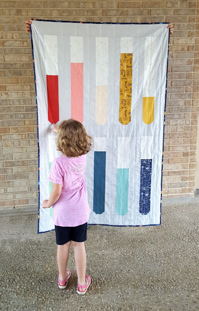 Supernova Test Tubes Quilt Tutorial by Heidi Staples of Fabric Mutt