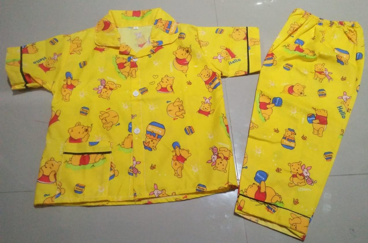 Piyama Anak Umur 3 Tahun Gambar Winie The Pooh Kuning