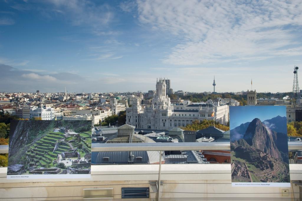La muestra tiene lugar en la azotea del Círculo de Bellas Artes de la capital española