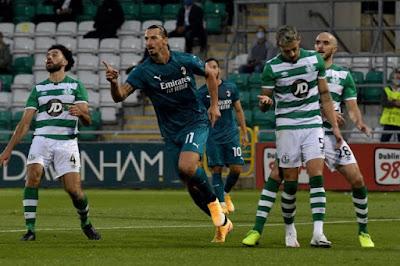 ملخص واهداف مباراة ميلان و شامروك (2-0) الدوري الاوروبي