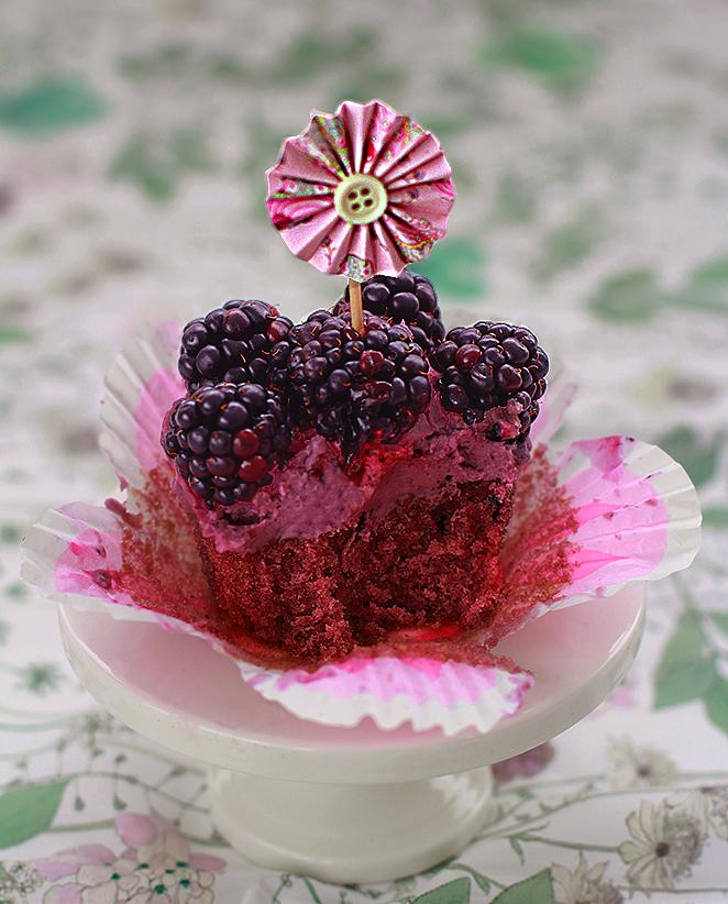 receta cupcakes moras