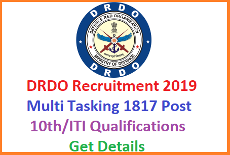 Online Applications are invited by the Center for Personal Talent Management CEPTAM DRDO from 23rd December 2019. Good News to lower qualifications candidates from Defence Research and Development organisation Hyderabad. Check Detailed Notification released by DRDO to fill up 1817 Vacancies of Multi Tasking Staff in DRDO Hyderabad Visakhapatnam locations important dates eligibility criteria Educational Qualifications How to Apply Scheme of examination Syllabus Selection Procedure drdo-multi-tasking-staff-mts-recruitment-vacancies-apply-online-drdo.gov.in-website