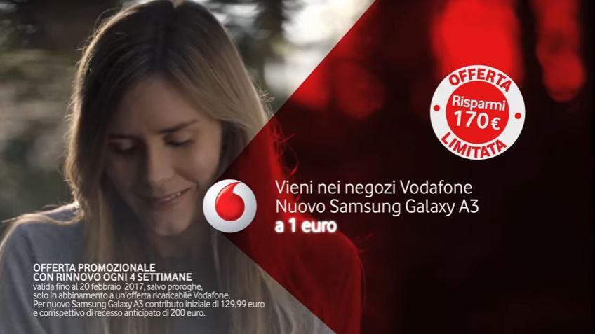 Attore Testimonial Vodafone Pubblicità Con Patrick Dempsey E Ragazza