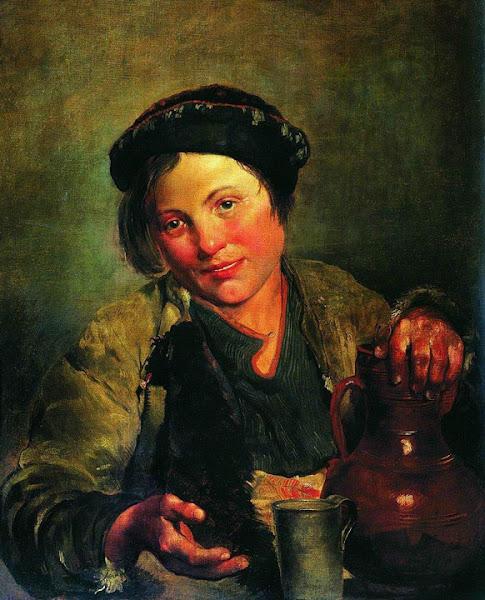 Маковский Владимир Егорович - Мальчик, продающий квас. 1861
