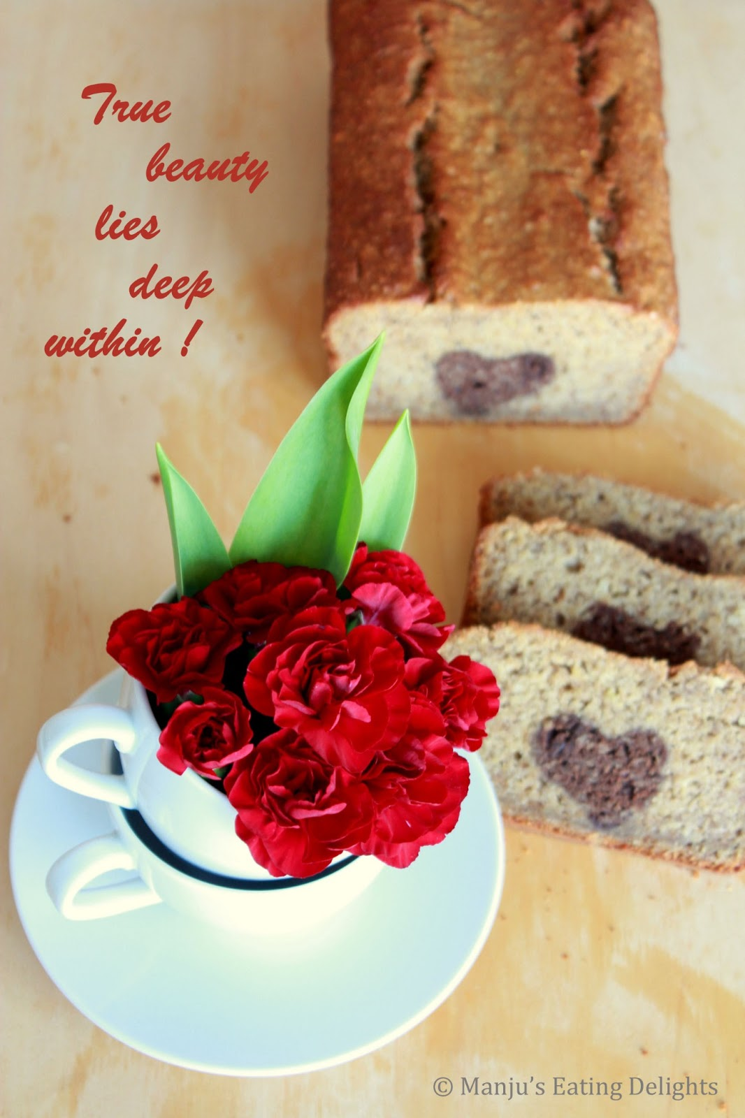 Manju S Eating Delights Banana Bread With A Heart A