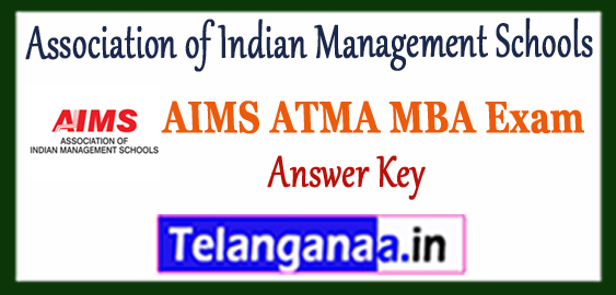 AIMS ATMA Association of Indian Management Schools MBA Answer Key Cut Off Result 2018