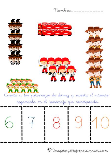 contar numeros con disney